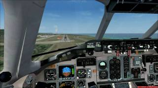 MD-82 Alitalia (Fly the Maddog FS2004) landing at Rhodes airport ,,Diagoras,,Greece (LGRP)