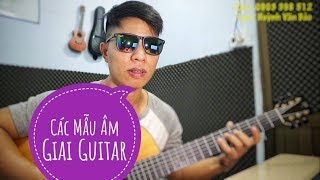 [Văn Bảo] Các mẫu âm giai guitar - 6 mẫu âm giai - rất dễ hiểu