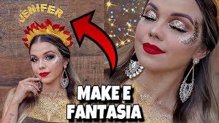 VIREI A JENIFER! Maquiagem e Fantasia para o Carnaval 2019
