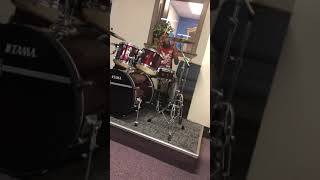 My Lil Brother Kenai Roddy playing the Drums and Shawn Williams Playing the church organ