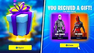 "*NEW* FREE SKINS & V-BUCKS ""GIFTING"" FEATURE LEAKED! (FREE Items & Gifts!) - Fortnite: Battle Royale"