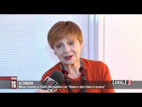 """TG CANALE 2_ALTAMURA: MILENA VUKOTIC AL TEATRO MERCADANTE CON """"BABAR E ALTRE FIABE IN MUSICA"""""""