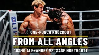 Cosmo Alexandre Knocks Out Sage Northcutt   ONE: From All Angles