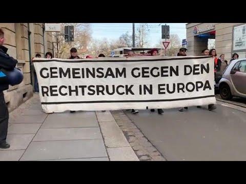 Miles De Alemanes Contra Los Pactos Con La Ultraderecha Tras El Escándalo De Turingia