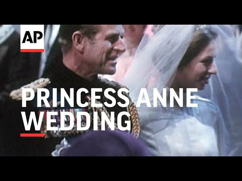 The Royal Wedding - Princess Anne - In Colour - 1973