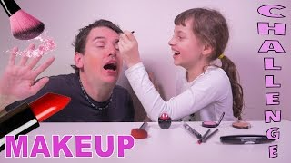 INCROYABLE MAKEUP CHALLENGE • Le Papa maquillé par sa fille de 9 ans - Studio Bubble Tea maquillage