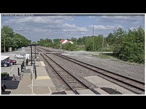 La Plata, Missouri USA - Virtual Railfan RECORDED FOOTAGE