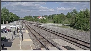 La Plata, Missouri USA - Virtual Railfan RECORDED FOOTAGE