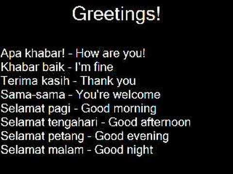 Learn Malay Language Belajar Bahasa Melayu Ep 1 Youtube