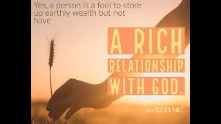 The Riches of a Relationship with God