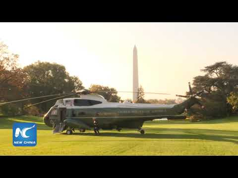U.S. President Donald Trump departs White House for Asia