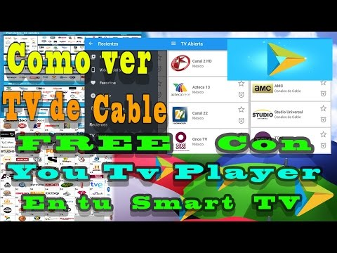 como conectar tu celular a tu television  | y ver cable con you tv player en tu smart tv