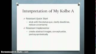 Conation and the Kolbe A Index - CEE300