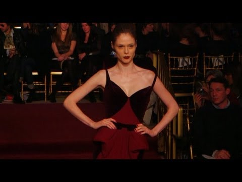 Zac Posen's Oscar-Worthy Fall 2013 Gowns in Action | New York Fashion Week