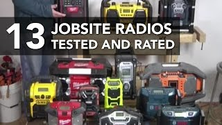 Review and Testing the Sound Quality of Jobsite Radios
