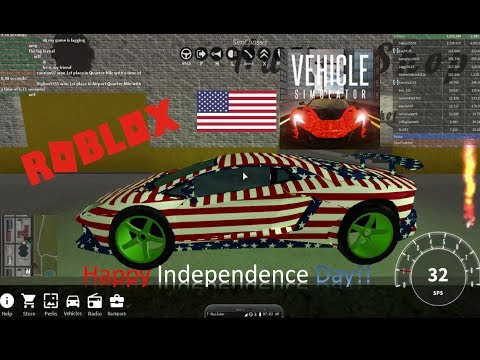 Tyler's 4th of July in Vehicle Simulator in Roblox