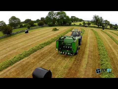 A and JJ Walsh Agri Contractors at Silage 2015 Aerial drone Video by FlyBy Photos