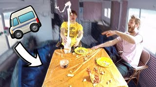 Don't Spill The Food While Driving! (RV CHALLENGE)