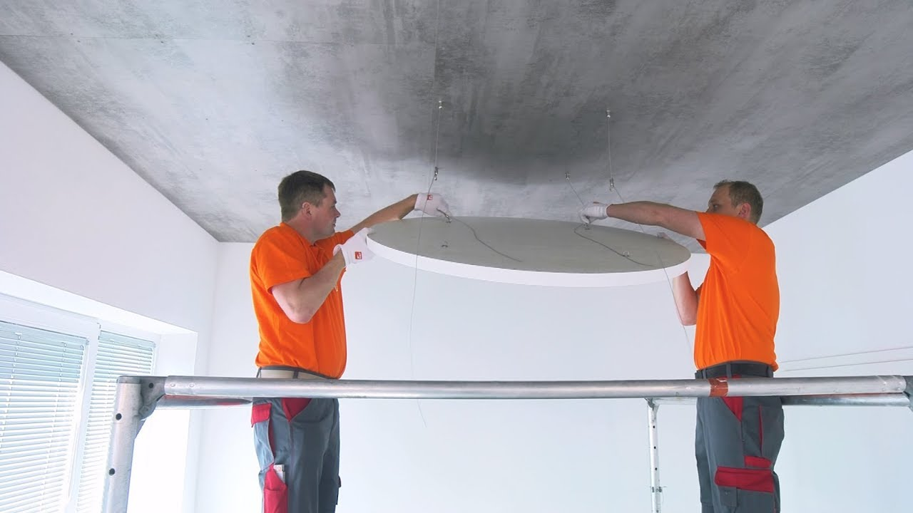 Installation Video Ceiling Raft - TOPIQ Sonic element from Knauf AMF