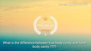 What is the difference between false body cavity and true body cavity