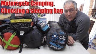 Motorcycle camping choosing a sleeping bag