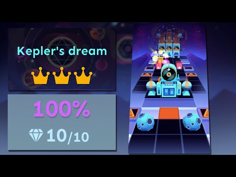 Rolling Sky Level 48 Kepler's Dream 100% Clear - All Gems & Crowns