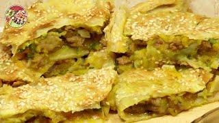 Пирог с бараниной и тыквой, разновидность самсы. Просто, вкусно, недорого.