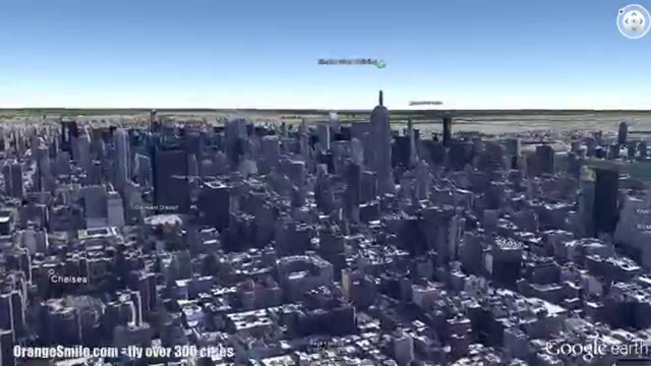 New York Sightseeings In D Flight Over The City In Google Earth - Nyc map google earth