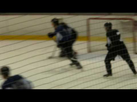 2009 Avalanche Training Camp Day 3 - Duchene Stastny faceoff and T.J. Hensick