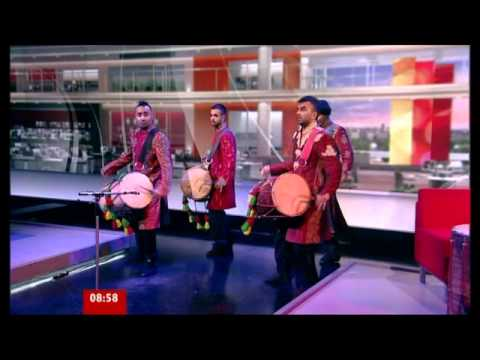 Harry Kalsi with the Dhol Foundation on BBC Breakfast