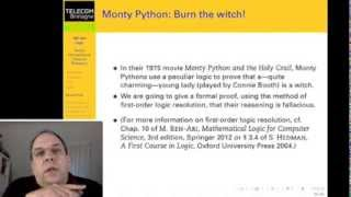 """A Logical Proof that the Monty Python """"Burn the Witch"""" Scene Reasoning is Fallacious"""