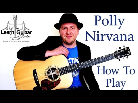Polly - Nirvana - Guitar Lesson - Rhythm + Chords - How To Play