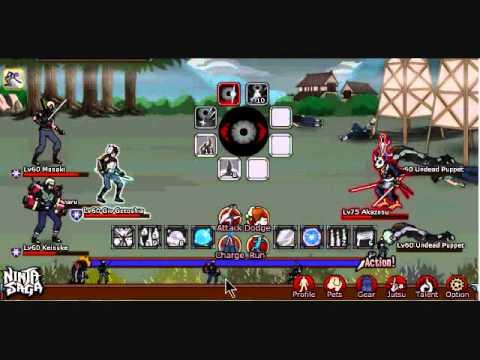 Ninja Saga- Tensai Special Jounin Exam Stage 2, Chapter 2. With Level 60 NPCs!