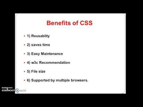 CSS Tutorial 2: Benefits And Drawbacks Of CSS