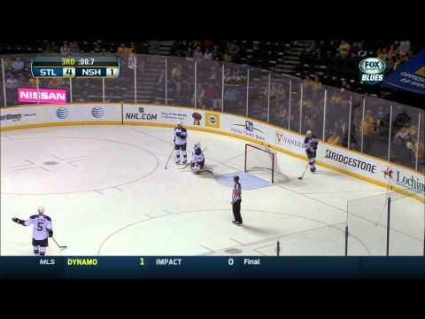 Last 1:30 of game, LGBs chant St. Louis Blues vs Nashville Predators 3/15/14 NHL Hockey.