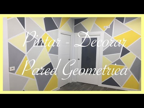 Diy como pintar figuras geom tricas en la pared youtube - Como insonorizar una pared ...