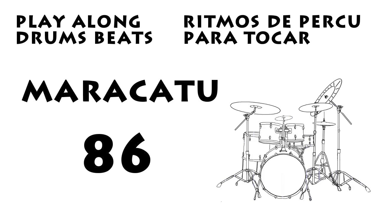 Play along Drums   Maracatu Beat 86 bpm