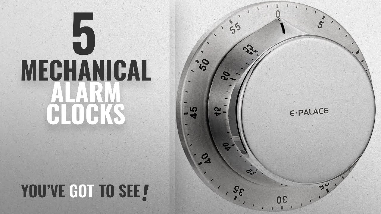 Top 10 Mechanical Alarm Clocks [2018 ]: Mechanical Kitchen Timer, BBTO Loud  Alarm Sound 60 Minutes