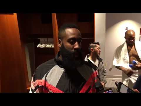James Harden Postgame Interview / Rockets vs Pelicans