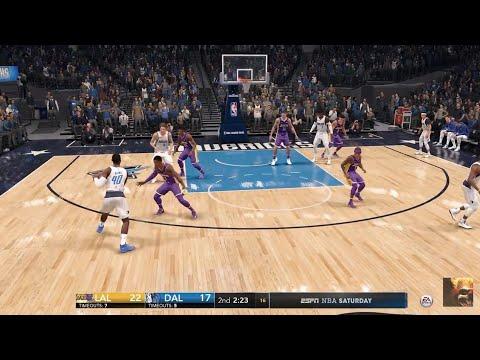 NBA LIVE 18 - Dallas Mavericks vs Los Angeles Lakers - 1st Half - PS4 PRO 1080p - HD