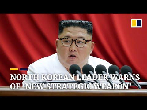 North Korea's leader Kim Jong-un warns of 'new strategic weapon'