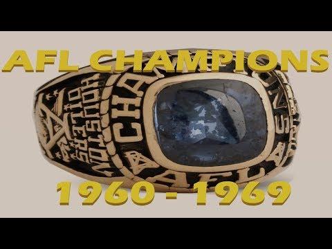 NFL Champions Part 6 1960-1969 AFL Champions
