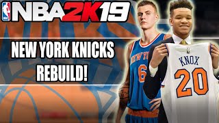 NBA 2k19 MYLEAGUE! | NEW YORK KNICKS REBUILD!