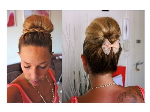 Tuto Coiffure #41 : Chignon Boule & Tresse, Summer Look ! Maxi Bun & Braid Hairstyle - YouTube
