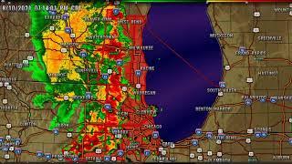 *Live* Radar Wisconsin / Illinois / Michigan / Indiana Severe Storms and Tornado Warnings 8/10/2021