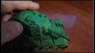 Модель танка КВ-2 из бумаги