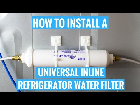 How To Install A Universal Inline Refrigerator Water Filter You