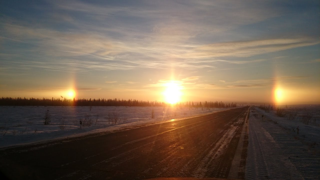 Три солнца. г. Челябинск, Россия. Three suns. Chelyabinsk ...
