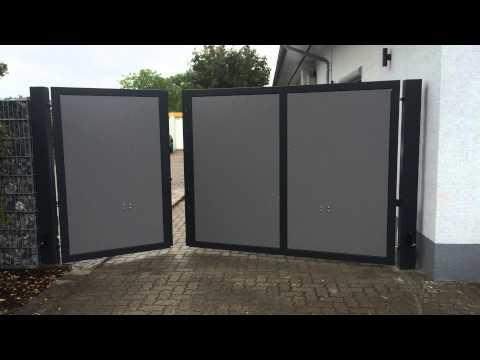 Hoftor mit Trespafllung - YouTube