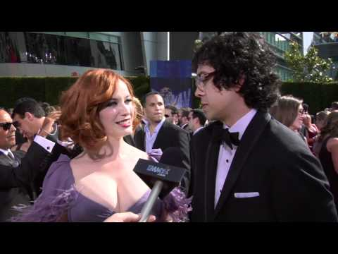 Christina Hendricks and Geoffery Arend: 62nd Primetime Emmys Red Carpet 2010